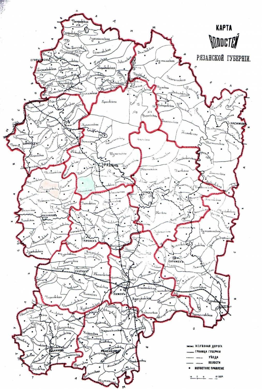 Октябрьского районного карта рязанской губернии 18 века начале стоял выбор